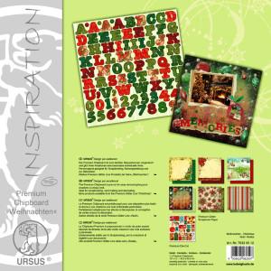 """Premium Chipboard """"Weihnachten"""" 30,5 x 30,5 cm - 5 Blatt"""