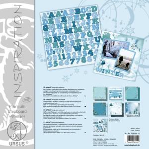 "Premium Chipboard ""Winter"" 30,5 x 30,5 cm - 5 Blatt"
