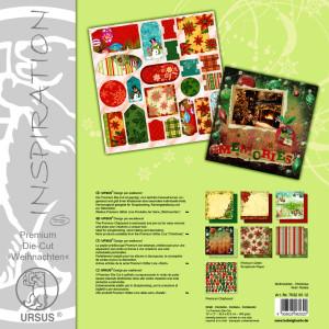 """Premium Die-Cut """"Weihnachten"""" 30,5 x 30,5 cm - 5 Blatt"""