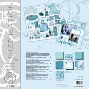 "Premium Die-Cut ""Winter"" 30,5 x 30,5 cm - 5 Blatt"