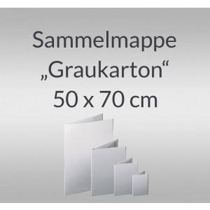 """Sammelmappe """"Graukarton"""" 50 x 70 cm mit Verschussband"""