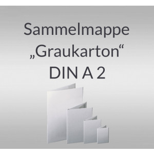 """Sammelmappe """"Graukarton"""" DIN A2 mit Verschussband"""