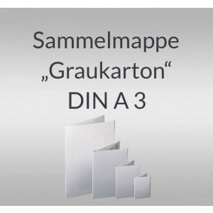 """Sammelmappe """"Graukarton"""" DIN A3 mit Gummizug"""