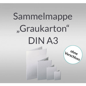 "Sammelmappe ""Graukarton"" DIN A3"