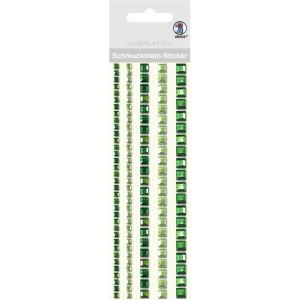"""Schmuckstein Sticker """"Bordüren"""" quadratisch grün"""