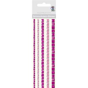 """Schmuckstein Sticker """"Bordüren"""" quadratisch pink"""