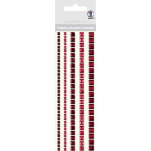 """Schmuckstein Sticker """"Bordüren"""" quadratisch rot"""