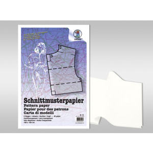 Schnittmusterpapier 40 g/qm 100 x 150 cm - 5 Bogen