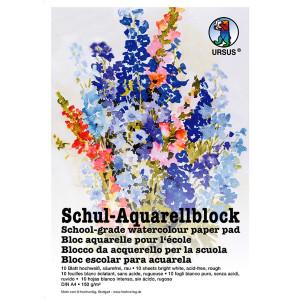 Schul-Aquarellblock 150 g/qm DIN A4 - 10 Blatt