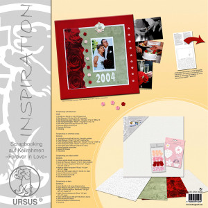 "Scrapbooking auf Keilrahmen ""Forever in Love"" 40 x 40 cm - Set"