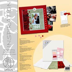 "Scrapbooking auf Keilrahmen ""Forever in Love"" 40 x 40 cm - Set"