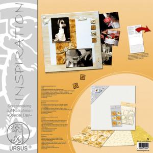 """Scrapbooking auf Keilrahmen """"Special Day"""" 40 x 40 cm - Set"""