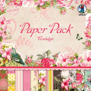 "Scrapbooking Papier Block ""Nostalgic"" 30,5 x 30,5 cm - 24 Blatt sortiert"