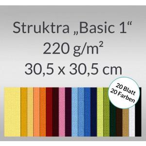 """Scrapbooking Papier Block """"Struktura Basic 1"""" 30,5 x 30,5 cm - 20 Blatt sortiert"""