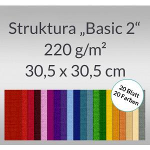 """Scrapbooking Papier Block """"Struktura Basic 2"""" 30,5 x 30,5 cm - 20 Blatt sortiert"""