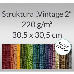 "Scrapbooking Papier Block ""Struktura Vintage 2"" - 20 Blatt sortiert"