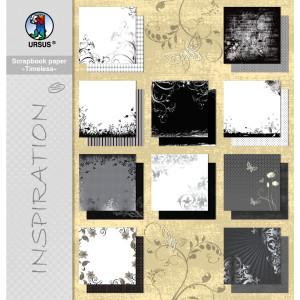 """Scrapbooking Papier Block """"Timeless"""" 30,5 x 30,5 cm - 10 Blatt sortiert"""
