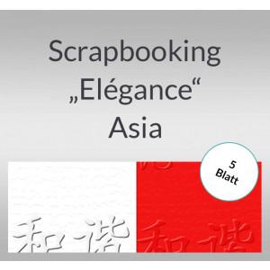 "Scrapbooking Papier ""Elegance"" Asia - 5 Blatt"