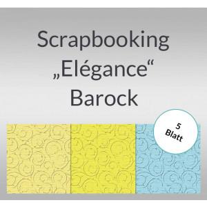 "Scrapbooking Papier ""Elegance"" Barock - 5 Blatt"