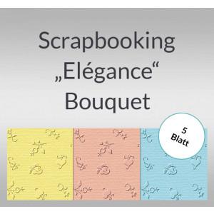 "Scrapbooking Papier ""Elegance"" Bouquet - 5 Blatt"