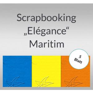 "Scrapbooking Papier ""Elegance"" Maritim - 5 Blatt"