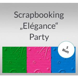 "Scrapbooking Papier ""Elegance"" Party - 5 Blatt"