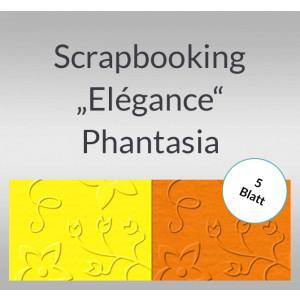 "Scrapbooking Papier ""Elegance"" Phantasia - 5 Blatt"