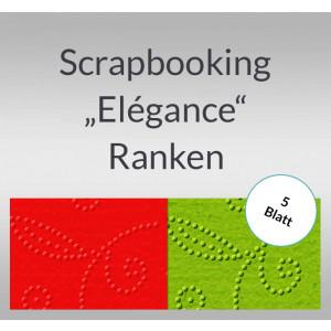 """Scrapbooking Papier """"Elegance"""" Ranken - 5 Blatt"""