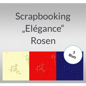 "Scrapbooking Papier ""Elegance"" Rosen - 5 Blatt"