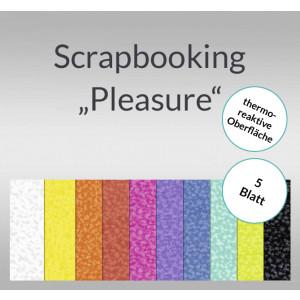 """Scrapbooking Papier """"Pleasure"""" - 5 Blatt"""