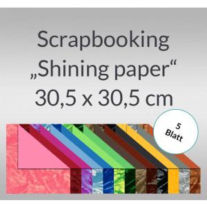 "Scrapbooking Papier ""Shining Paper"" - 5 Blatt"