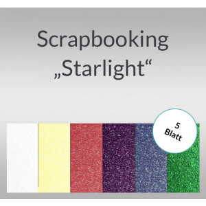 "Scrapbooking Papier ""Starlight"" - 5 Blatt"