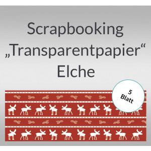 "Scrapbooking Papier ""Transparentpapier"" Elche - 5 Blatt"