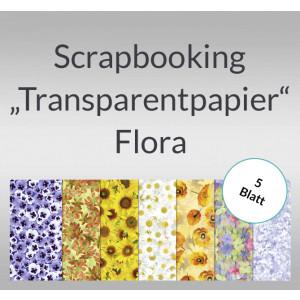 "Scrapbooking Papier ""Transparentpapier"" Flora - 5 Blatt"