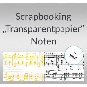 """Scrapbooking Papier """"Transparentpapier"""" Noten - 5 Blatt"""