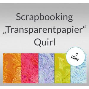 "Scrapbooking Papier ""Transparentpapier"" Quirl - 5 Blatt"