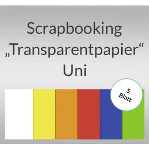 "Scrapbooking Papier ""Transparentpapier"" Uni - 5 Blatt"