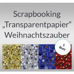 "Scrapbooking Papier ""Transparentpapier"" Weihnachtszauber - 5 Blatt"