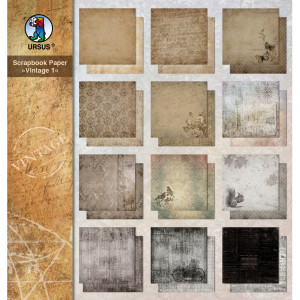 "Scrapbooking Papier ""Vintage"" 30,5 x 30,5 cm - 5 Blatt"
