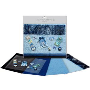 Scrapbooking-Set blau