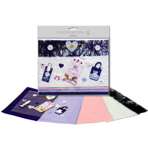 Scrapbooking-Set violett