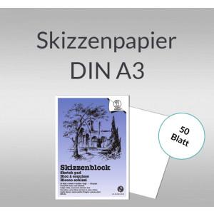 Skizzenblock 120 g/qm DIN A3