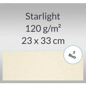 Starlight 120 g/qm 23 x 33 cm elfenbein - 5 Blatt