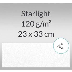 Starlight 120 g/qm 23 x 33 cm hochweiß - 5 Blatt