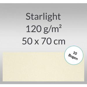 Starlight 120 g/qm 50 x 70 cm elfenbein - 10 Bogen