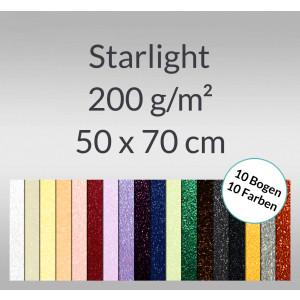 Starlight 200 g/qm 50 x 70 cm - 10 Bogen sortiert