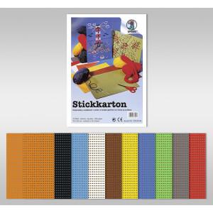 Stickkarton 300 g/qm 34 x 50 cm - 10 Blatt sortiert