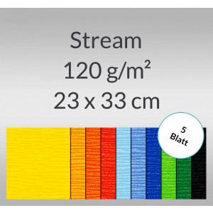Stream 120 g/qm 23 x 33 cm - 5 Blatt