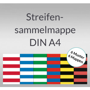 Streifen-Sammelmappe DIN A4 sortiert