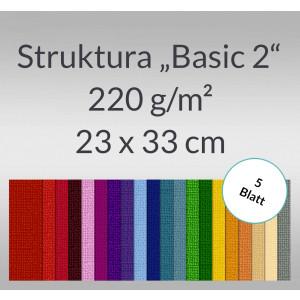 """Struktura """"Basic 2"""" 23 x 33 cm - 5 Blatt"""